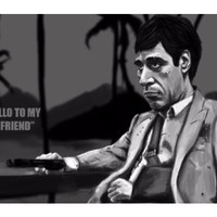 Scarface Tony Montana Caricature Artwork | Artist: Ankit Soni