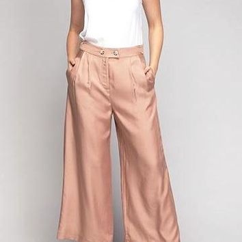 Kendall Cupro Tencel Pants in Cocoa