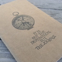 Compass Travel It Is Not The Destination But The Journey Quote  Journal