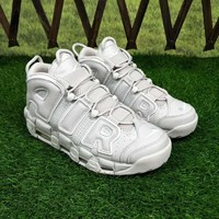 """Nike Air More Uptempo """"Triple White"""" Sneakers - Best Deal Online"""