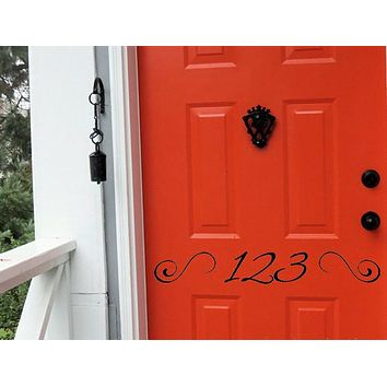 House Numbers Vinyl Door Decal
