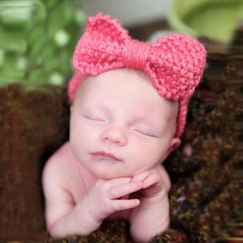 Cute Baby Crochet Headband Infant Girls Hair Accessories Ear Warmers Newborn Knit Woolen Head Wrap Baby Turban Headband