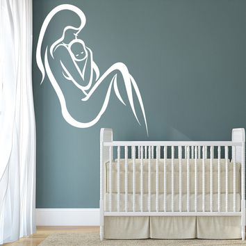 Wall Stickers Vinyl Decal Mother And Baby Child Birth Decor For Bedroom Unique Gift (z2049)