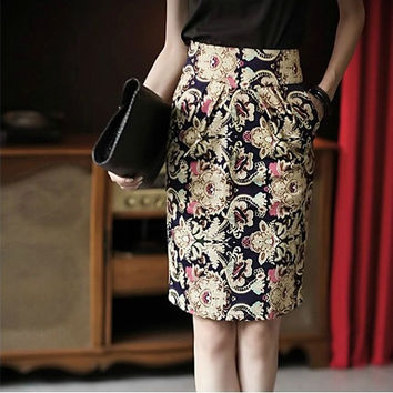 New Popular Summer Style Pencil Emoji Ladies Skirt