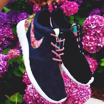 """NIKE"" Trending Fashion Printed Floral Casual Sports Roshe Shoes"