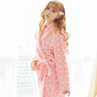 autumn winter thick coral fleece women flannel velet casual robes pajamas sleepwear warm lounge nightgown = 1705605060