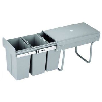 Cabine Draw Type Sorted Waste Bin 8Lx3 Multifunction