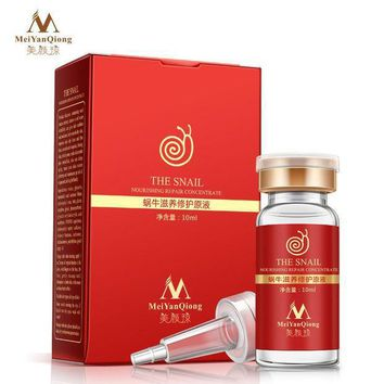 High Quality Snail 100% Pure Plant Extract Hyaluronic Acid Liquid Whitening Blemish Serum Ampoules Anti Acne Rejuvenation Serum