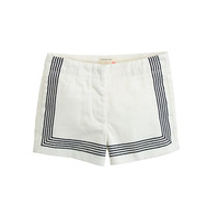 crewcuts Girls Frankie Short In Embroidered Stripe