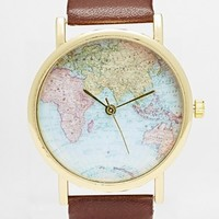 Reclaimed Vintage Map Print Watch