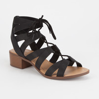 CITY CLASSIFIED Strappy Lace Up Womens Sandals | Sandals