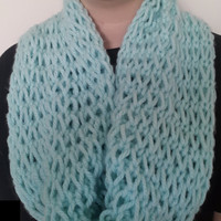 Light Blue Chunky Infinity Scarf