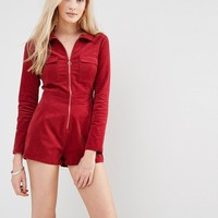Love & Other Things Corduroy Utility Playsuit at asos.com