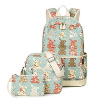 Winner Brand Unique Printing Backpack Women Bookbags Canvas Backpack Schoolbag for Girls Rucksack Casual