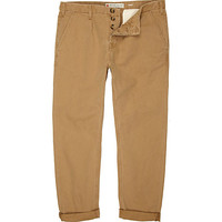 River Island MensTan carrot fit chinos