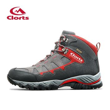 Clorts Hiking Shoes Trekking Camping Climbing Outdoor Shoes  Waterproof Suede Leather Men Outdoor Boots Winter Sneaker HKM-823
