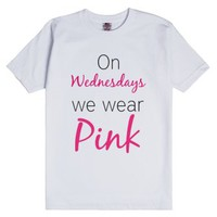 Pink Wednesday-Unisex White T-Shirt
