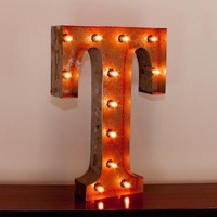 "24"" Letter T Lighted Vintage Marquee Letters with Screw-on Sockets"
