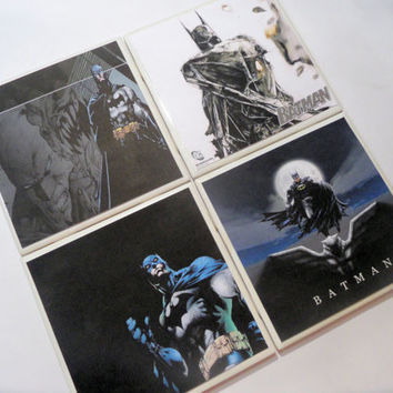 Batman Dark Knight Graphics Ceramic Coasters - set of 4 - From graphic novels, etc