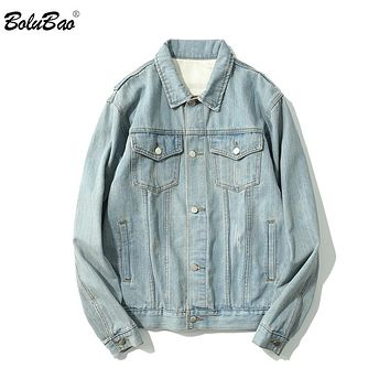 Men  Vintage Distressed Destroyed Zipper Sleeve Denim Jackets Hip Hop Male Coats Blue
