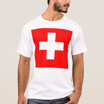T Shirt with Flag of Switzerland
