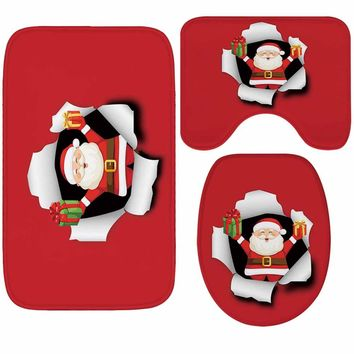 Christmas Bathroom Soft Thicken Anti-skid Bedding Set 50x80cm 40x50cm 35x45cm [118168846361]