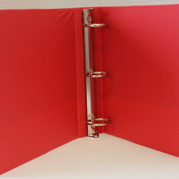 "1"""" Basic 3-Ring Binder w/ Two Inside Pockets - Red Case Pack 12"