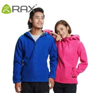 Rax Men Waterproof Windproof Jacket Women Polar Fleece  Outdoor Sports Hiking Jackets Thermal Camping Coats 44-2J055
