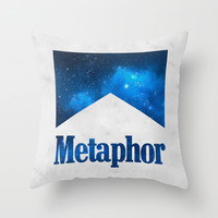 It's A Metaphor Throw Pillow by dan ron eli