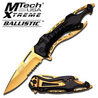 M-Tech AO Gold Titanium Rescue Knife