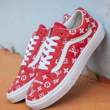 Fashion Online Vans X Supreme X Lv Four Seasons Skateboard Shoes