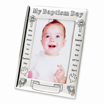 My Baptism Day 4x6 Photo Frame - Engravable Personalized Perfect Baptism Gift