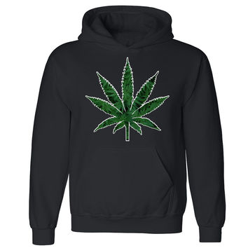 Zexpa Apparel™ Marijuana Weed Leaf Unisex Hoodie Weed Leaf Smoker Joint Cool Hooded Sweatshirt
