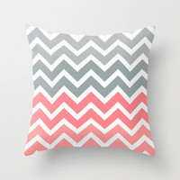 Chevron Pink Fade Throw Pillow by Rex Lambo | Society6