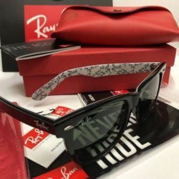 Original RayBan Wayfarer Rare Print RB2140 1015 sunglasses for women man