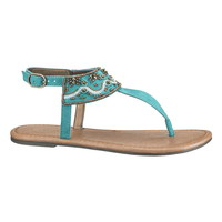Boardwalk Blue Jessica Beaded Sandal - Boardwalk Blue