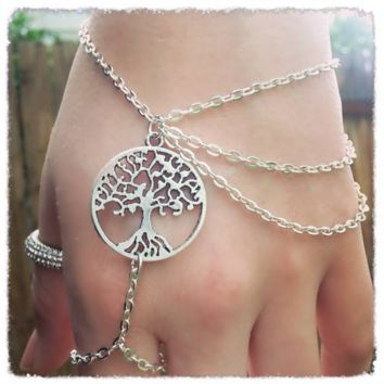 Handmade Tree of Life Ring Bracelet