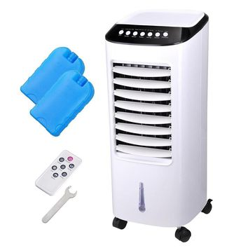 Portable Evaporative Air Cooler Fan Indoor Cooling Humidifier w/ Remote Control