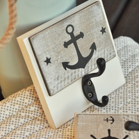Black Rustic Nautical Anchor Wall Hook