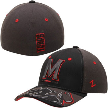 Maryland Terrapins Zephyr Dark Ice Flex Hat – Black