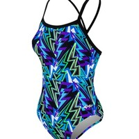 Dolfin Winners Xena V-2 Back Prints One Piece at SwimOutlet.com