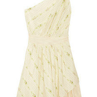 Girl. by Band of Outsiders | Circe one-shoulder printed silk and cotton mesh dress | NET-A-PORTER.COM