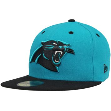 New Era Carolina Panthers Two-Tone 59FIFTY Fitted Hat - Panther Blue/Black
