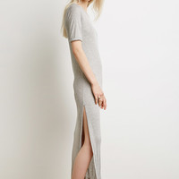 Ribbed Side Slit Dress