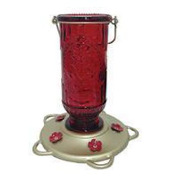 Classic Brands - Humming - Vintage Glass Hummingbird Feeder