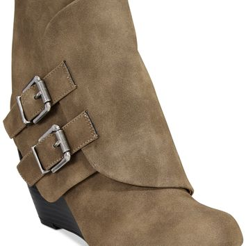 American Rag Cora Foldover Wedge Booties, Only at Macy's