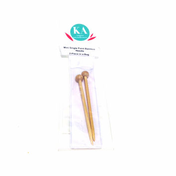 KA Miniature Bamboo Single Point Knitting Needles