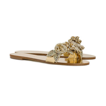 Sophia Webster Lilico Crystal Embellished Flat Sandals - Farfetch