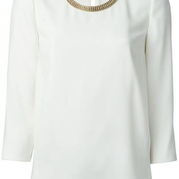 ONETOW Burberry London gold chain neck top