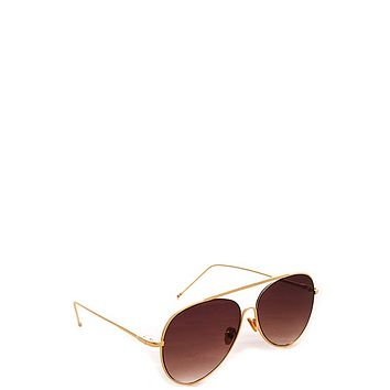 Muse Gold Sunglasses - Brown Fade Lenses